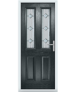 The Cardiff Composite Door in Grey (Anthracite) with Simplicity