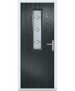 The Sheffield Composite Door in Grey (Anthracite) with Simplicity