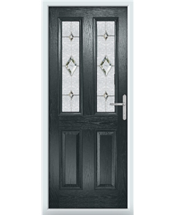 The Cardiff Composite Door in Grey (Anthracite) with Crystal Diamond