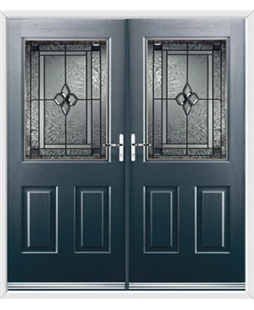 Windsor French Rockdoor in Anthracite Grey with Triton Glazing