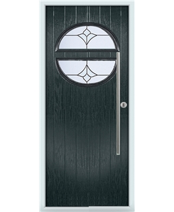 The Xenia Composite Door in Grey (Anthracite) with Crystal Tulip Arch