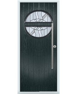 The Xenia Composite Door in Grey (Anthracite) with Zinc Art Abstract
