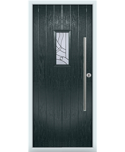 The Zetland Composite Door in Grey (Anthracite) with Zinc Art Abstract