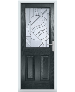 The Farnborough Composite Door in Grey (Anthracite) with Zinc Art Abstract