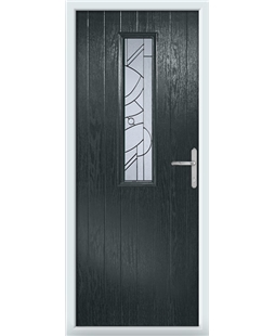 The Sheffield Composite Door in Grey (Anthracite) with Zinc Art Abstract