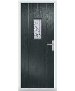The Taunton Composite Door in Grey (Anthracite) with Zinc Art Abstract