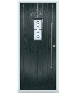 The Zetland Composite Door in Grey (Anthracite) with Zinc Art Clarity