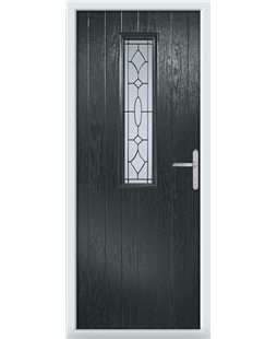 The Sheffield Composite Door in Grey (Anthracite) with Zinc Art Clarity