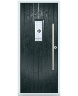 The Zetland Composite Door in Grey (Anthracite) with Zinc Art Elegance