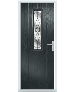 The Sheffield Composite Door in Grey (Anthracite) with Zinc Art Elegance
