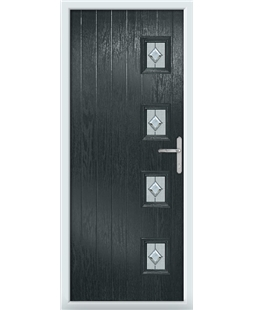 The Preston Composite Door in Grey (Anthracite) with Cameo