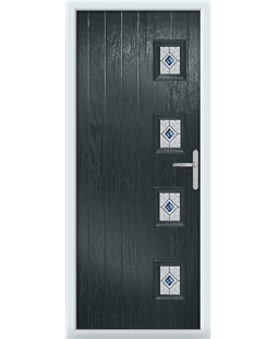 The Preston Composite Door in Grey (Anthracite) with Blue Daventry