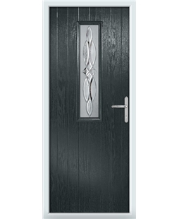 The Sheffield Composite Door in Grey (Anthracite) with Crystal