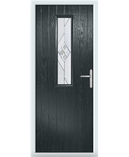 The Sheffield Composite Door in Grey (Anthracite) with Eclipse