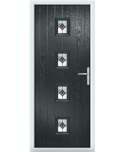 The Uttoxeter Composite Door in Grey (Anthracite) with Infinity