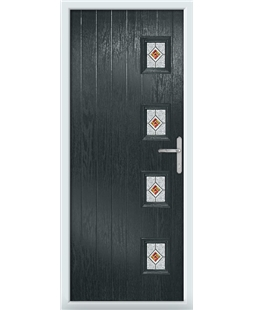 The Preston Composite Door in Grey (Anthracite) with Red Daventry