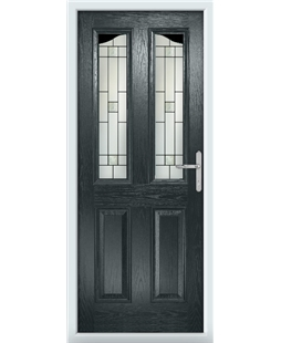 The Birmingham Composite Door in Grey (Anthracite) with Tate