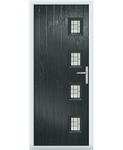 The Preston Composite Door in Grey (Anthracite) with Tate