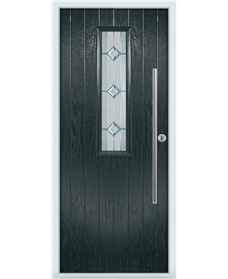 The York Composite Door in Grey (Anthracite) with Simplicity