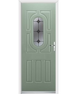 Ultimate Arcacia Rockdoor in Chartwell Green with Black Diamonds