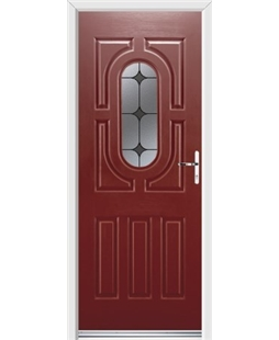 Ultimate Arcacia Rockdoor in Ruby Red with Black Diamonds