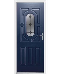 Ultimate Arcacia Rockdoor in Sapphire Blue with Black Diamonds