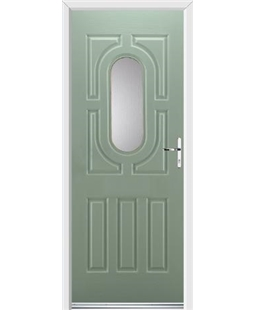 Ultimate Arcacia Rockdoor in Chartwell Green with Glazing