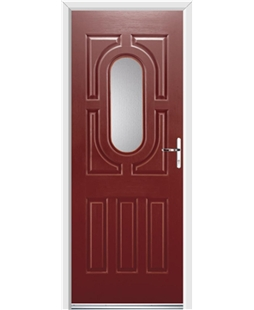 Ultimate Arcacia Rockdoor in Ruby Red with Glazing