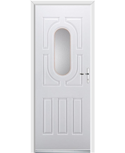 Ultimate Arcacia Rockdoor in White with Glazing