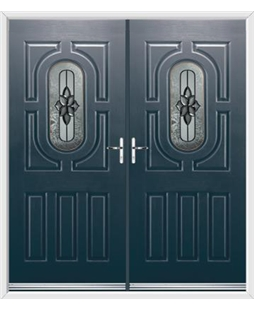 Arcacia French Rockdoor in Anthracite Grey with Cosmopolitan
