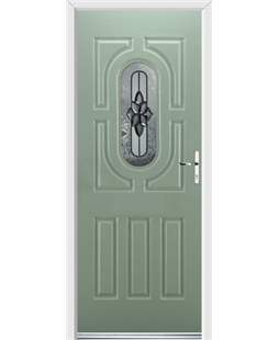 Ultimate Arcacia Rockdoor in Chartwell Green with Cosmopolitan Glazing