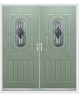 Arcacia French Rockdoor in Chartwell Green with Cosmopolitan