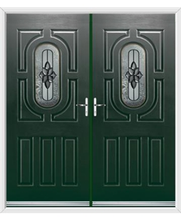 Arcacia French Rockdoor in Emerald Green with Cosmopolitan