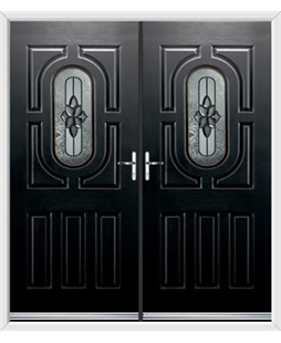 Arcacia French Rockdoor in Onyx Black with Cosmopolitan