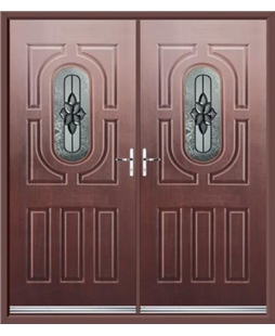 Arcacia French Rockdoor in Rosewood with Cosmopolitan