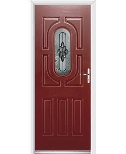 Ultimate Arcacia Rockdoor in Ruby Red with Cosmopolitan Glazing