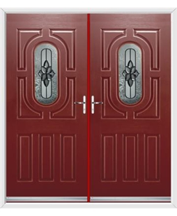Arcacia French Rockdoor in Ruby Red with Cosmopolitan