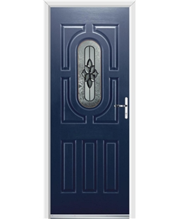Ultimate Arcacia Rockdoor in Sapphire Blue with Cosmopolitan Glazing