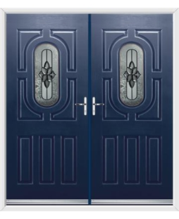 Arcacia French Rockdoor in Sapphire Blue with Cosmopolitan