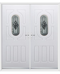 Arcacia French Rockdoor in White with Cosmopolitan