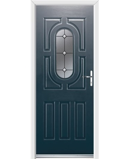 Ultimate Arcacia Rockdoor in Anthracite Grey with Crystal Bevel