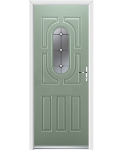 Ultimate Arcacia Rockdoor in Chartwell Green with Crystal Bevel