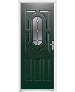 Ultimate Arcacia Rockdoor in Emerald Green with Crystal Bevel