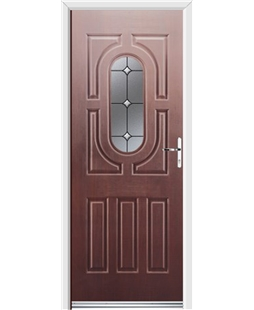 Ultimate Arcacia Rockdoor in Rosewood with Crystal Bevel