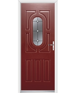 Ultimate Arcacia Rockdoor in Ruby Red with Crystal Bevel