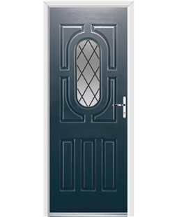 Ultimate Arcacia Rockdoor in Anthracite Grey with Diamond Lead
