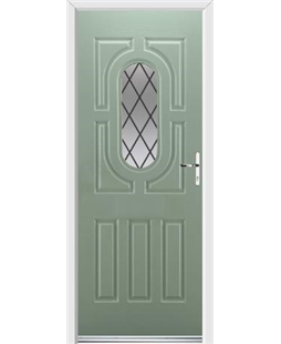 Ultimate Arcacia Rockdoor in Chartwell Green with Diamond Lead