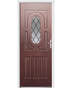 Ultimate Arcacia Rockdoor in Rosewood with Diamond Lead