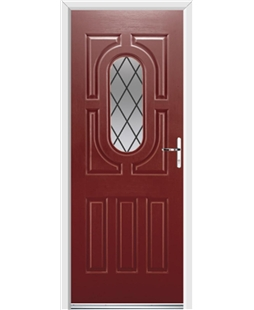 Ultimate Arcacia Rockdoor in Ruby Red with Diamond Lead