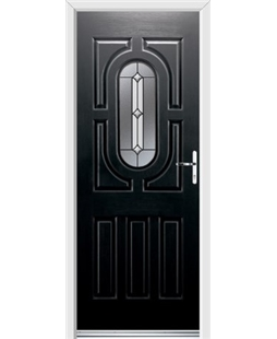 Ultimate Arcacia Rockdoor in Onyx Black with Ellipse Glazing